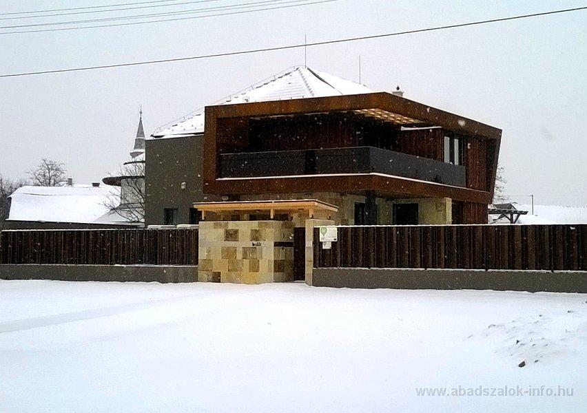 Képekben:Abádszalóki Tisza-tó gát és környéke havazás után - 2014.01.26.